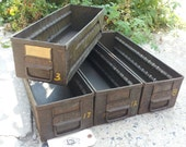 industrial metal drawers bins