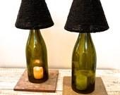Wine bottle Tealights
