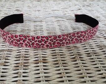 Pink Cheetah Headband - Animal Print Headband - Adult Headband - Girls Headband - No Slip Headband - Adult Headband - Sports Headband