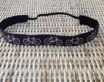 Black Bicycle Headband -  Womens Bike Sports Headband