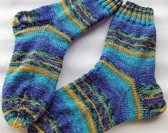 Hand Knit Socks  for Men UK 8-9,5 US 10,5-12