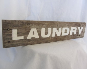 Laundry Sign - Pallet Wood Sign -  Laundry Hanging - Reclaimed Wood - Pallet Wood Sign -Laundry Decor- Rustic Laundry Sign - Wood Sign