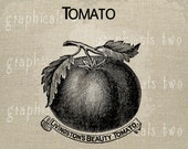 Kitchen decor Tomato seed packet Image transfer Instant graphic Digital download for iron on fabric burlap Decoupage Pillow Paper No gt260