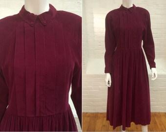 vintage corduroy dress // Laura Ashley dress // 1980s