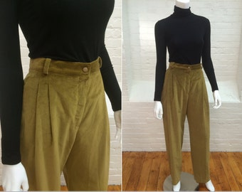 vintage Krizia pants // pleated trousers // made in Italy // 1980s