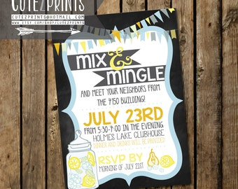 Mix and Mingle Party Invitations