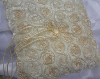 Ivory and gold Ring bearer pillow