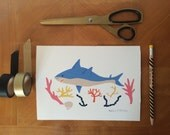 Shark A5 Limited edition signed print