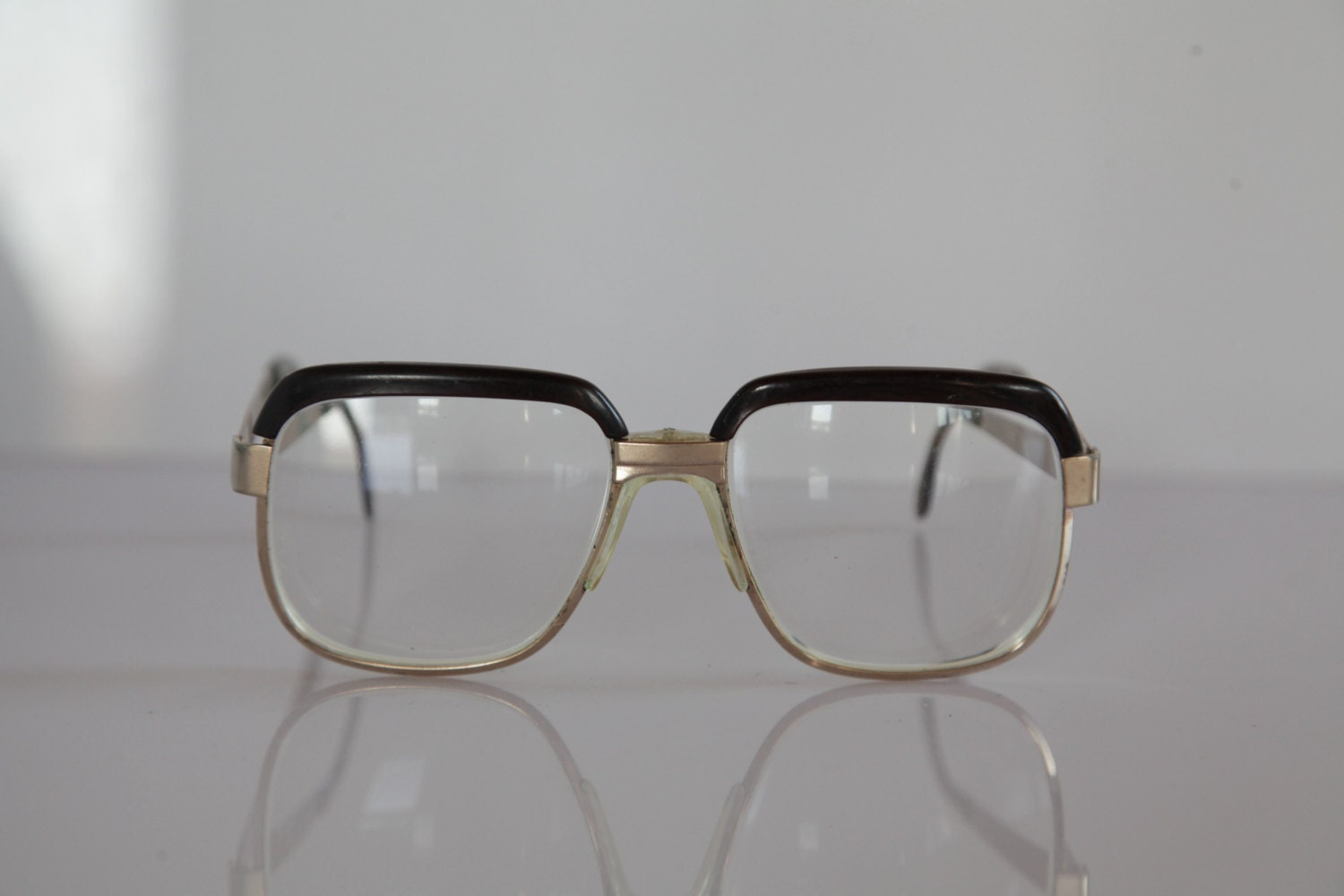 Eyeglasses Frame Made In Germany : Vintage OPTUNA MARATON Eyewear, Gold Frame, Brown, Clear ...