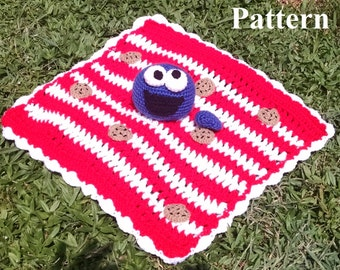 Cookie Monster Inspired Cuddle Blanket Pattern