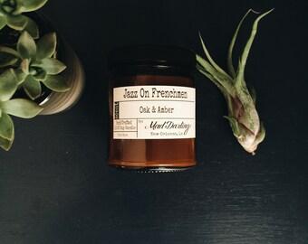 Jazz on Frenchmen - Oak & Amber Soy Candle