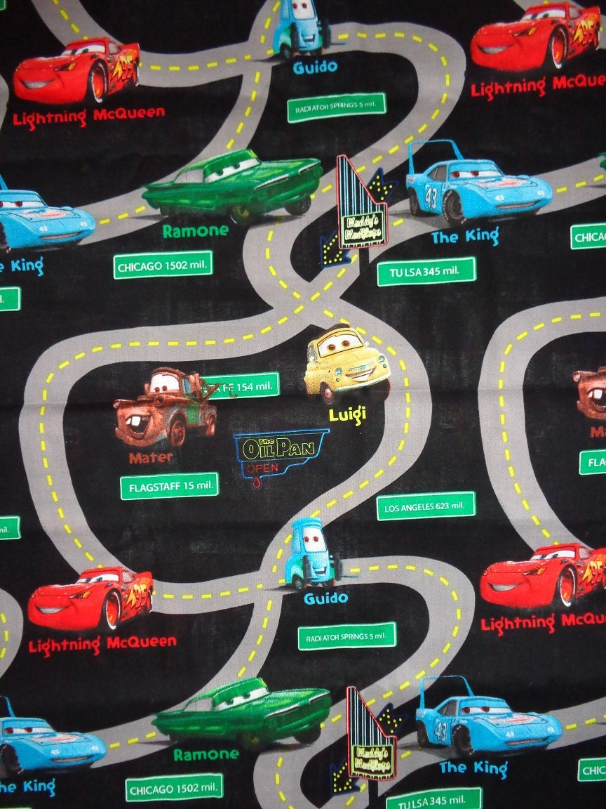 Race Track Fabric : Black carrs race track cotton fabric by the yard