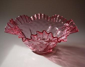 Fenton Cranberry Wedding Bowl