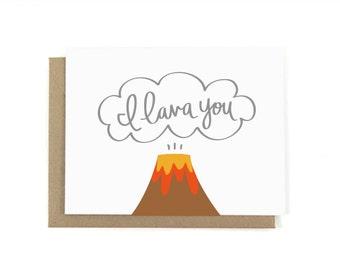 I Lava You Volcano Love Card w/ Envelope
