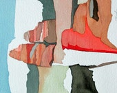 "Gila Series: "" Gila Hoodoos Approaching Sunset""   original one of a kind watercolor"