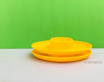 Pair of plastic egg cups