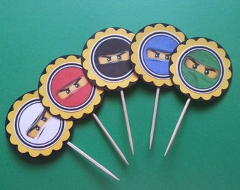 Lego Cupcake Toppers Etsy