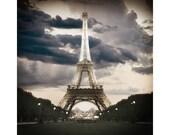 Eiffel Tower , Paris, Pinhole Photography, City of Lights, Romantic, Seine, Art Print, Paris photograph