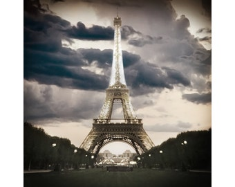 Eiffle Tower, Paris Photography,  Paris, Pinhole Photography, Paris Decor, City of Lights, Romantic, Seine, Art Print, Paris photograph