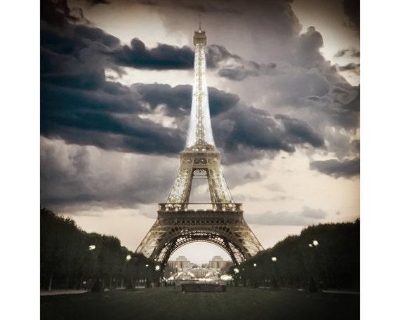 Eiffle Tower, Paris Photography,  Paris, Pinhole Photography, Paris Decor, City of Lights, Romantic, Seine, Art Print, Paris photograph