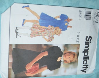 Simplicity 9963 Jessica McCLintock Girls Dress Sewing Pattern - UNCUT - Sizes 12-14