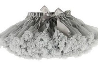 Gray Petti Skirt Tutu - Baby Girl First Birthday Outfit, Soft Fluffy Silver tutu Pettiskirt Deluxe Layered Party Dress 12 24 month 2T 3T