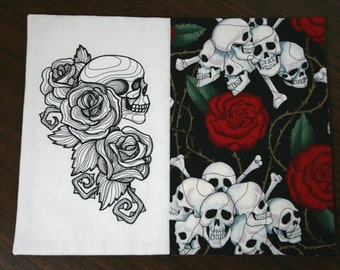 Roses and Skulls Mug Rug 131