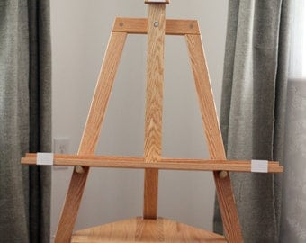 TV stand easel (Clear finish) Free shipping