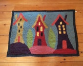 Rug Hooked Wall Hanging 'Simpler Times'