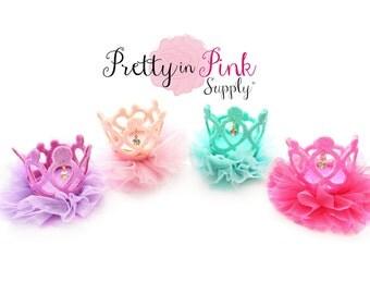 Jeweled Ballerina Felt Crown- You Choose Style- DIY 1st Birthday Photo Prop-Headband Hair Clip-Unfinished Crown-DIY Crown Supply