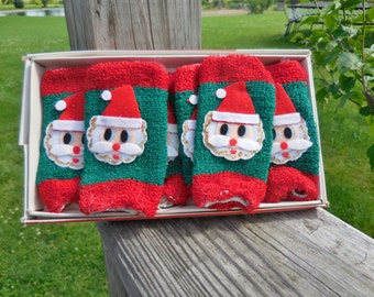 Christmas Coasters  Set of 6 SIP Santa