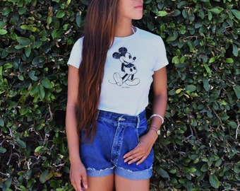 Blue Gossip high waisted shorts