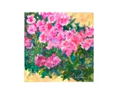 Pink Azalea original mixed media