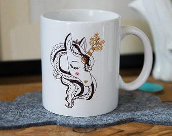 The Mug Miss Unicorn, Unicorn mug, girl gift, ceramic mug, mug, magic