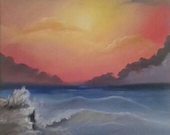 "16""x20"", ""Beach Sunset"""