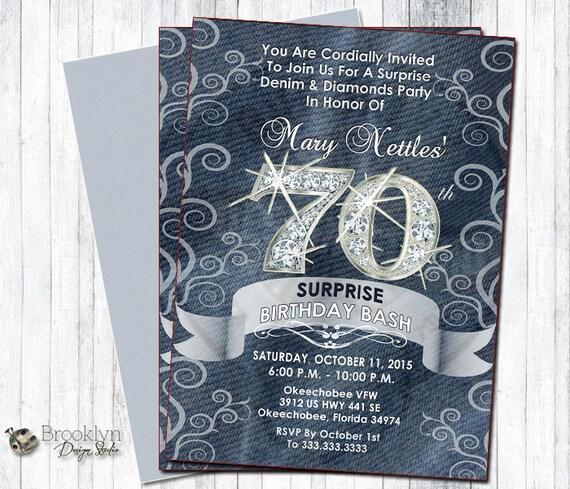 Denim And Diamonds Custom Designed Party Invitation Can