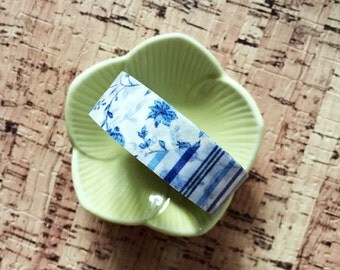 MT Blue Floral Washi Tape
