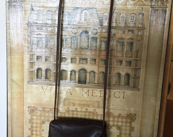 Crossbody,Vintage Bottega Veneta Crossbody/shoulder Chocolate Brown Leather purse.