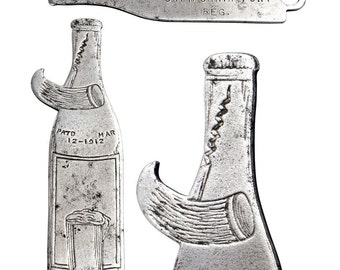 Vintage 1912 Patent Bottle Opener w/ Pre-Pro California Port Advertising.