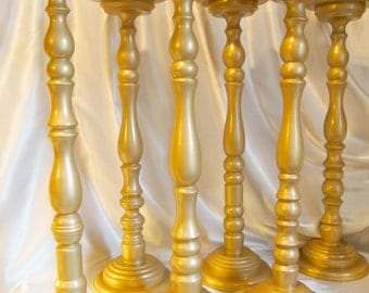 24 Inch Gold Metallic Wedding Floral Stand