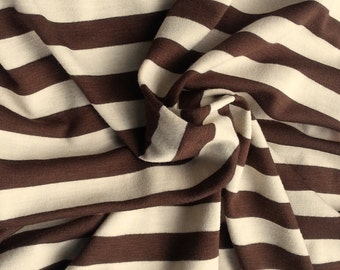 Black And White Stripe Cotton Spandex Fabric From