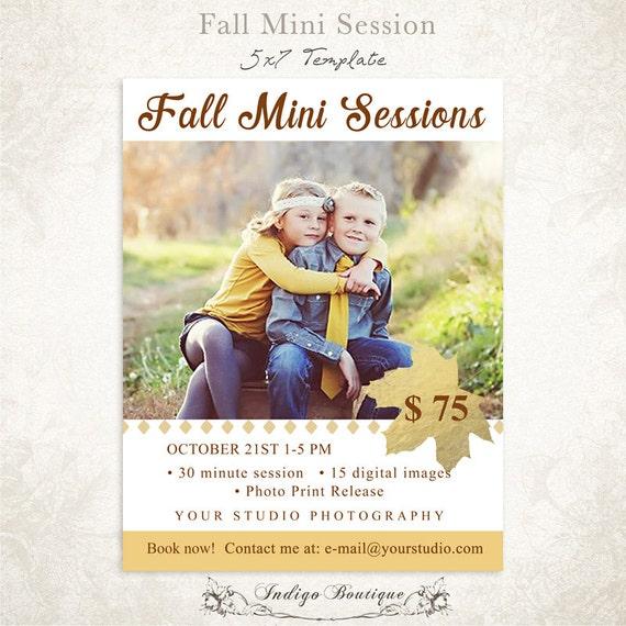 Items similar to mini session photography marketing board fall mini session psd template 009 for Free mini session templates
