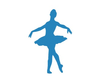 Ballerina Ballet Dancer Silhouette Embroidery Machine Design