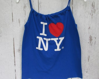 Tank Top I Love New York  Urban Chic Eco Friendly Tank Top