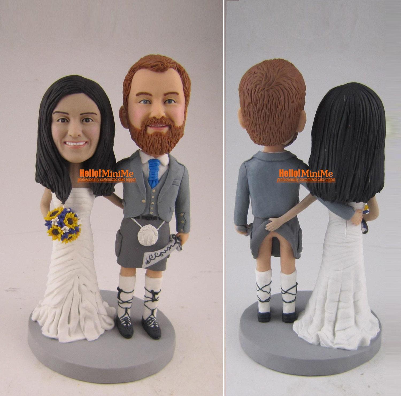 scotland kilt cake topper wedding cake topper bobblehead. Black Bedroom Furniture Sets. Home Design Ideas