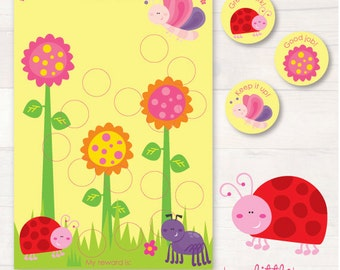 Bug Garden chore/reward chart pack AUTOMATIC DOWNLOAD