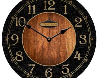 Black & Wood Clock