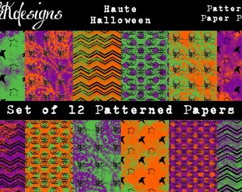 Haute Halloween Patterned Paper Pack