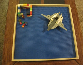 Large Lego Tray - Wooden tray with Lego base - Perfect for every Lego fan, young or old!