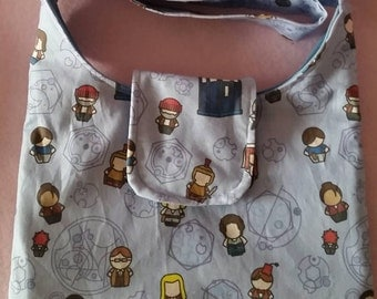 Doctor Who slouch bag Doctor's and monsters